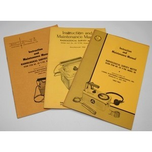Original manuals for CDV-700 Geiger Counters, Survey Meters & Dosimeter Chargers