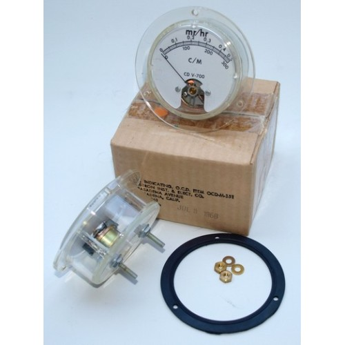 CDV-700 Original Re-Scaled Replacement Meter (Anton, Lionel & Victoreen 6A/B Models Only)
