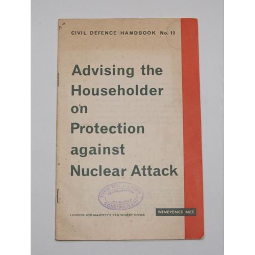 'Stamped' original 60's paper copy of the Civil Defence Handbook No 10