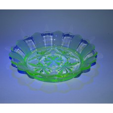 Large patterned Uranium Glass Bowl - NEW