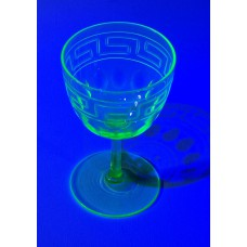 Art Deco Style wine glass - Back in stock