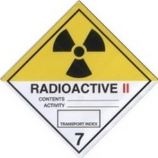 Category II Radiation Warning Sticker