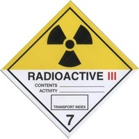 Category III Radiation Warning Sticker