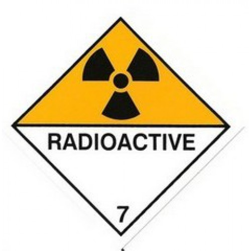 Radioactive 7 Warning Sticker - Just 2 left!!