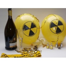 "5 ""radioactive"" party balloons - FREE GIFT included**"